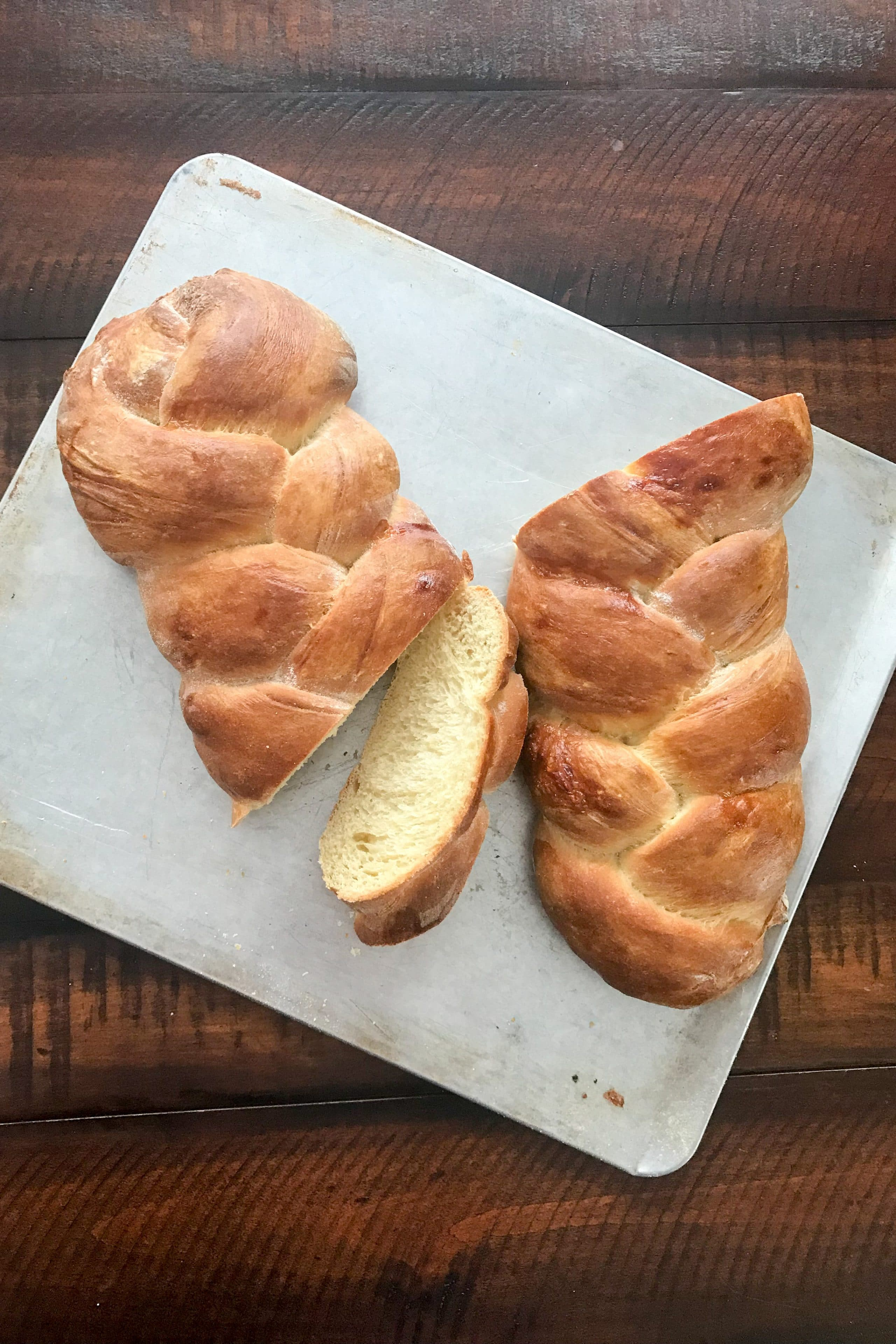 Golden brown, fluffy, and wonderfully light. Challah bread is perfect not only day of, but second day Challah makes the BEST French Toast. Recipe at KathleensCravings.com