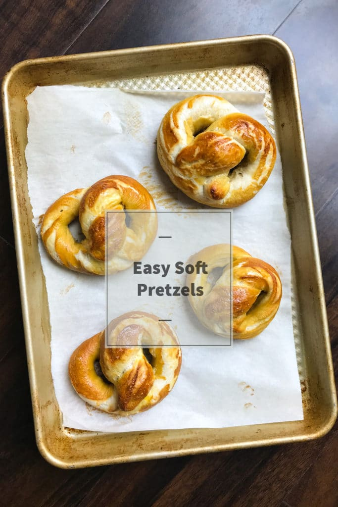 Soft homemade pretzels made easy. Perfect as is or with some cinnamon sugar or cheese sauce :) KathleensCravings.com