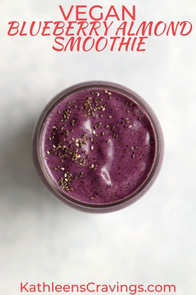 blueberry smoothie with chia seeds