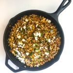 Easily bring the flavors of Mexican Street Corn with this Mexican Skillet Corn. Fresh corn is charred in your cast iron skillet then we stir in jalapeños for a kick, and lime juice, cilantro, and queso fresco to bring the Mexican flavor. Recipe at KathleensCravings.com