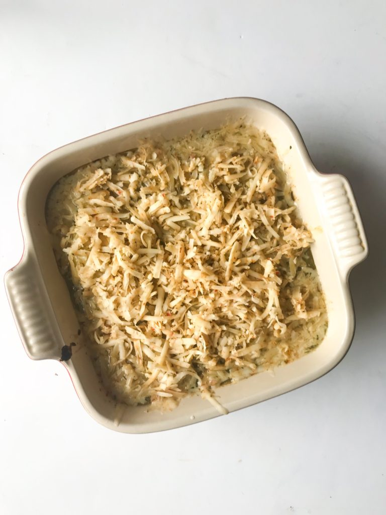 When you taste how good this Salsa Verde Chicken Bake is, you won't believe how easy it is! Just 3 ingredients - chicken, salsa verde, and cheese. Great served with some rice and beans for a complete meal. Recipe at KathleensCravings.com #3ingredients #weeknightmeal #chickenbake #easychickenrecipes