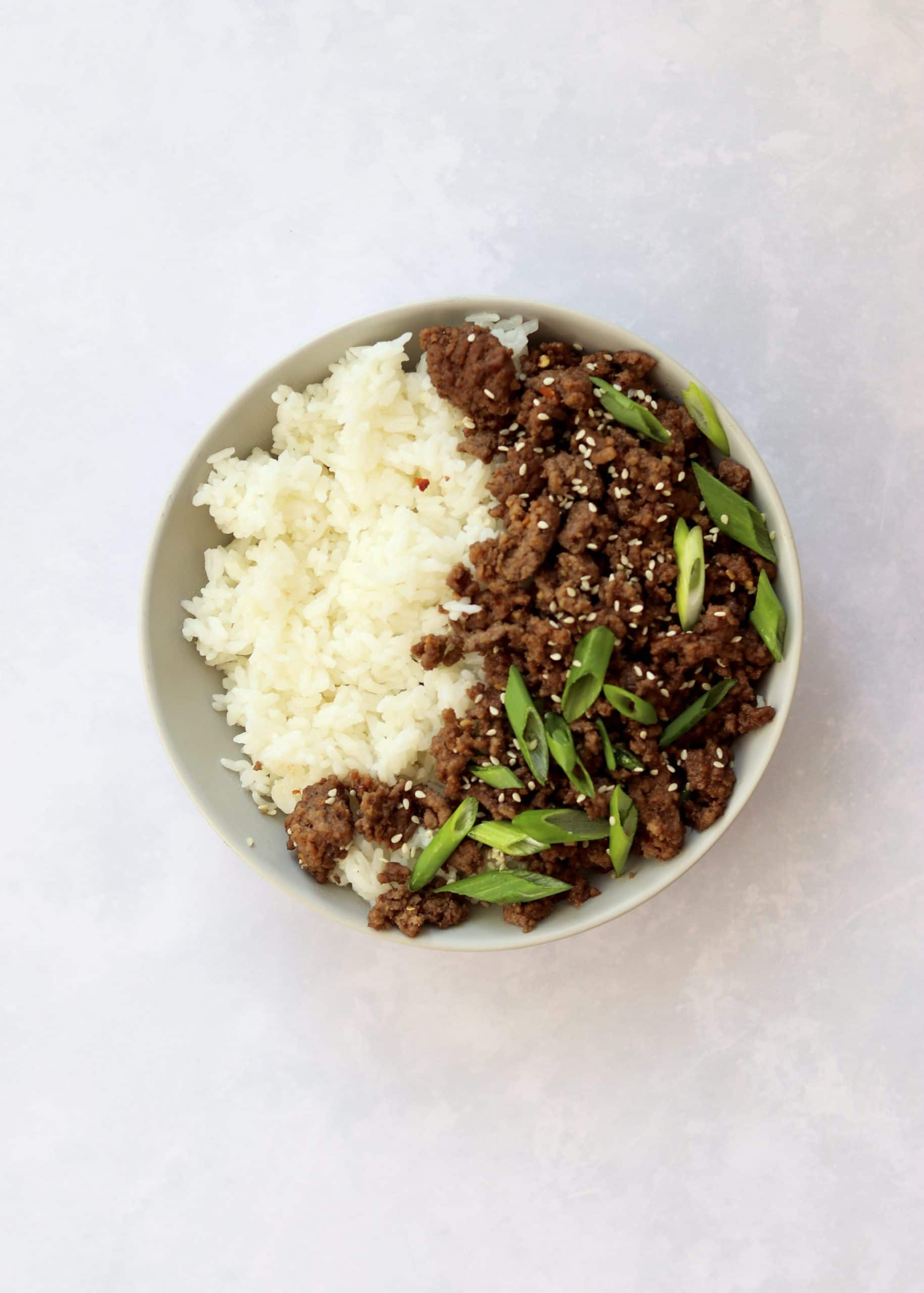 Korean Ground Beef Rice Bowl