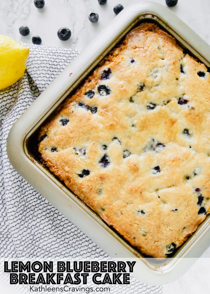 Lemon Blueberry Breakfast Cake with Text