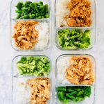 This Slow Cooker Honey Garlic Chicken checks all the boxes. Only 5 ingredients. Perfect for meal prep. And made right in your crockpot. Serve with rice and steamed veggies for a filling, healthy weeknight meal. Recipe at KathleensCravings.com #healthymealprep #slowcookerchicken #slowcookermealprep #chickenmealprep #healthyslowcooker #chickenbreastrecipe