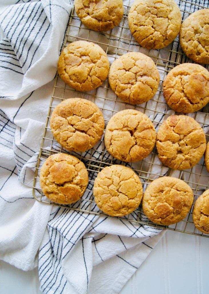 Pumpkin-snickerdoodles-on-a-cooling-rack