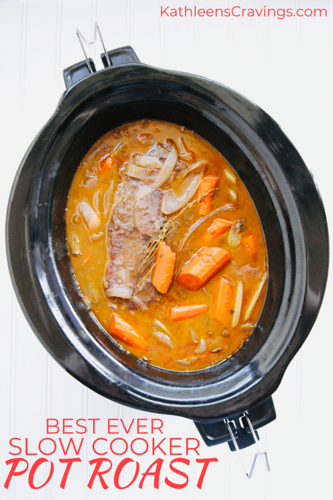 Best Slow Cooker Pot Roast with Text