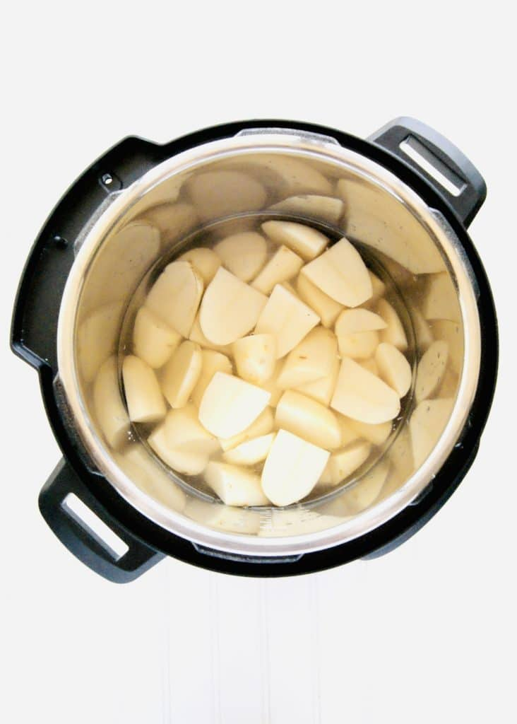 Chopped Russet Potatoes in Instant Pot