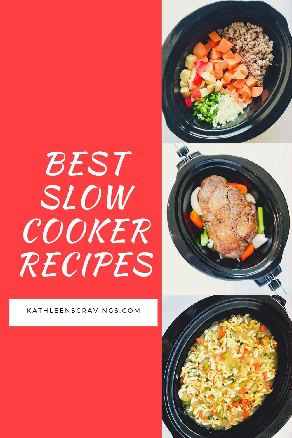 A dozen of my favorite slow cooker recipes! I love using my slow cooker year round but it's ESPECIALLY perfect in the cold winter months. Nothing beats coming home on a chilly day to a warm dinner already done in your crock pot. KathleensCravings.com #slowcooker #crockpot #slowcookerrecipes #crockpotrecipes #bestslowcooker