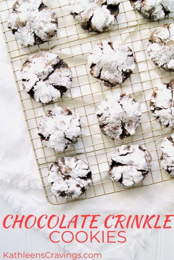 Chocolate Crinkle Cookies with text