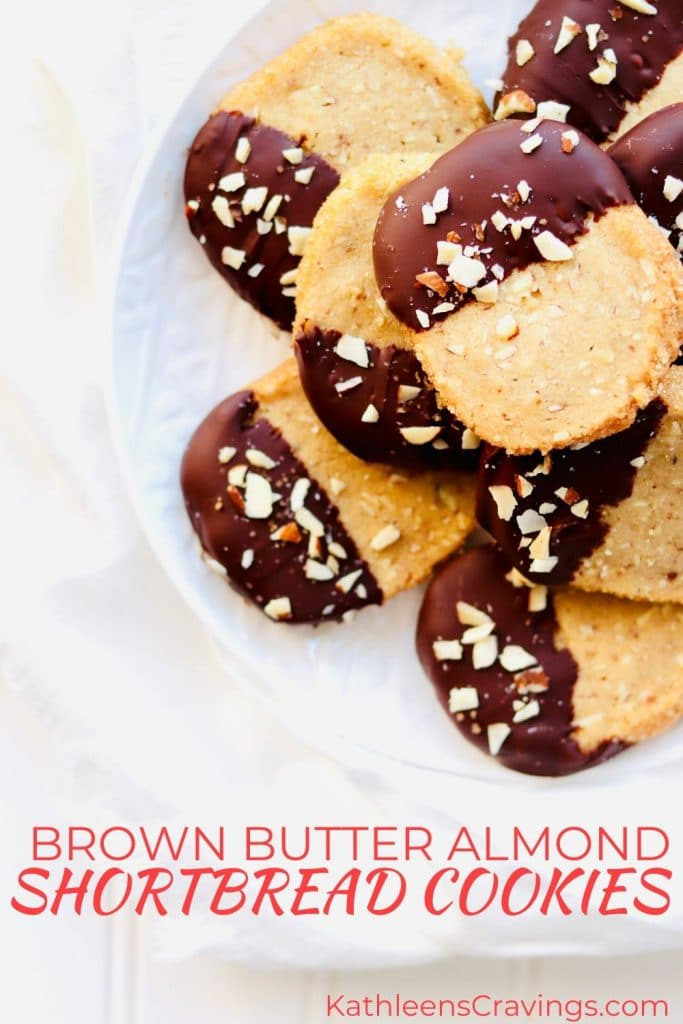 Brown Butter Almond Shortbread Cookies