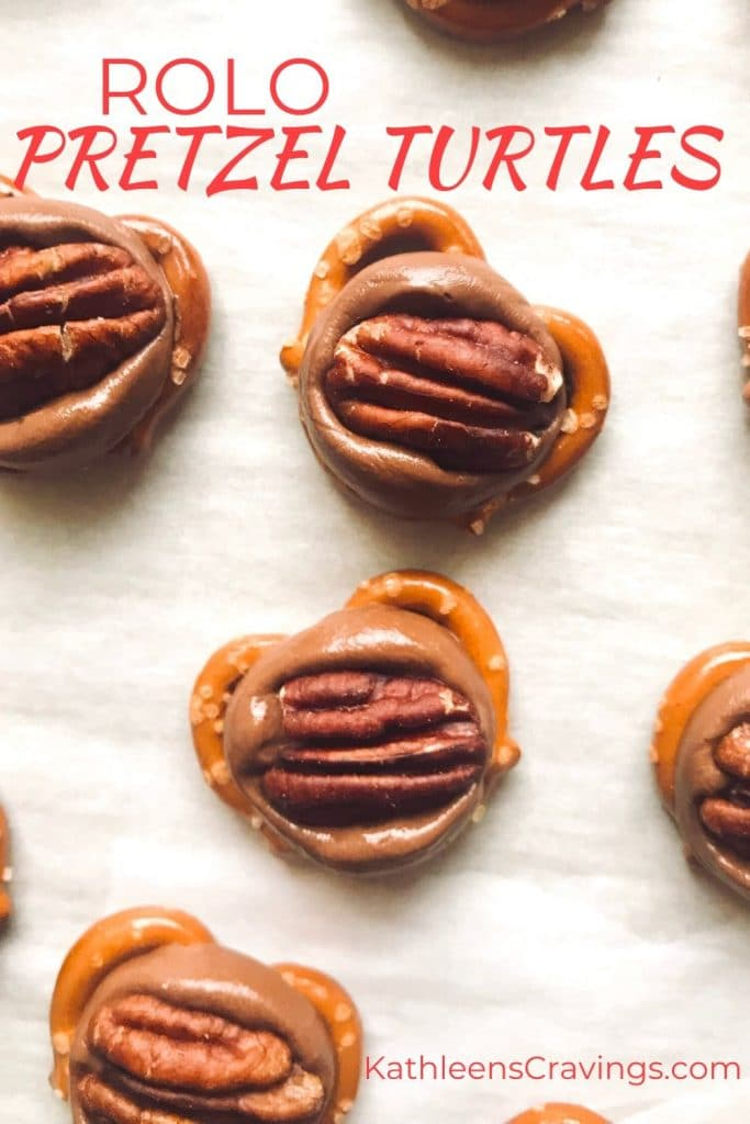 Rolo Pretzel Turtles with text