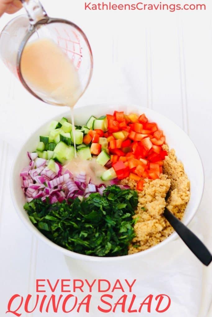 Everyday Quinoa Salad with text