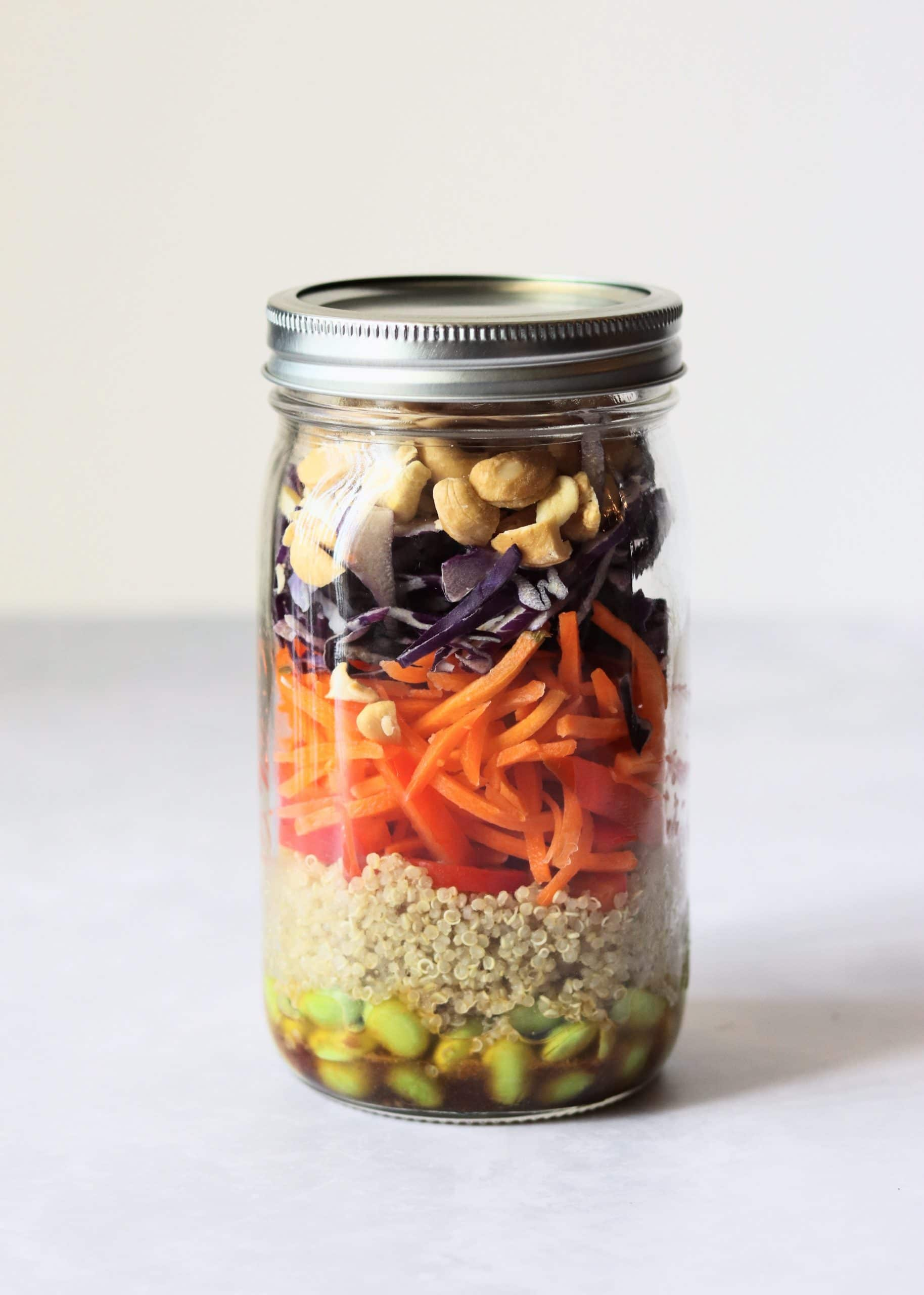 Thai Quinoa Mason Jar Salad