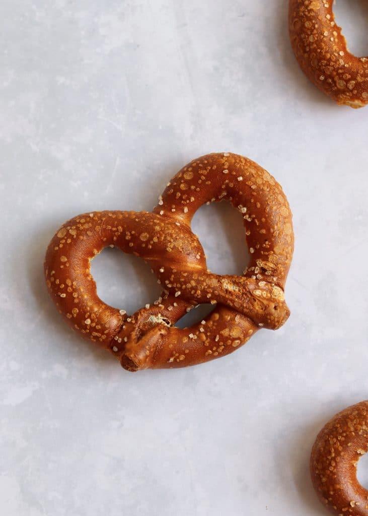 Large sourdough pretzels