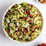 Pomegranate Brussels sprout salad