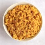 Bowl of pumpkin macaroni and cheese