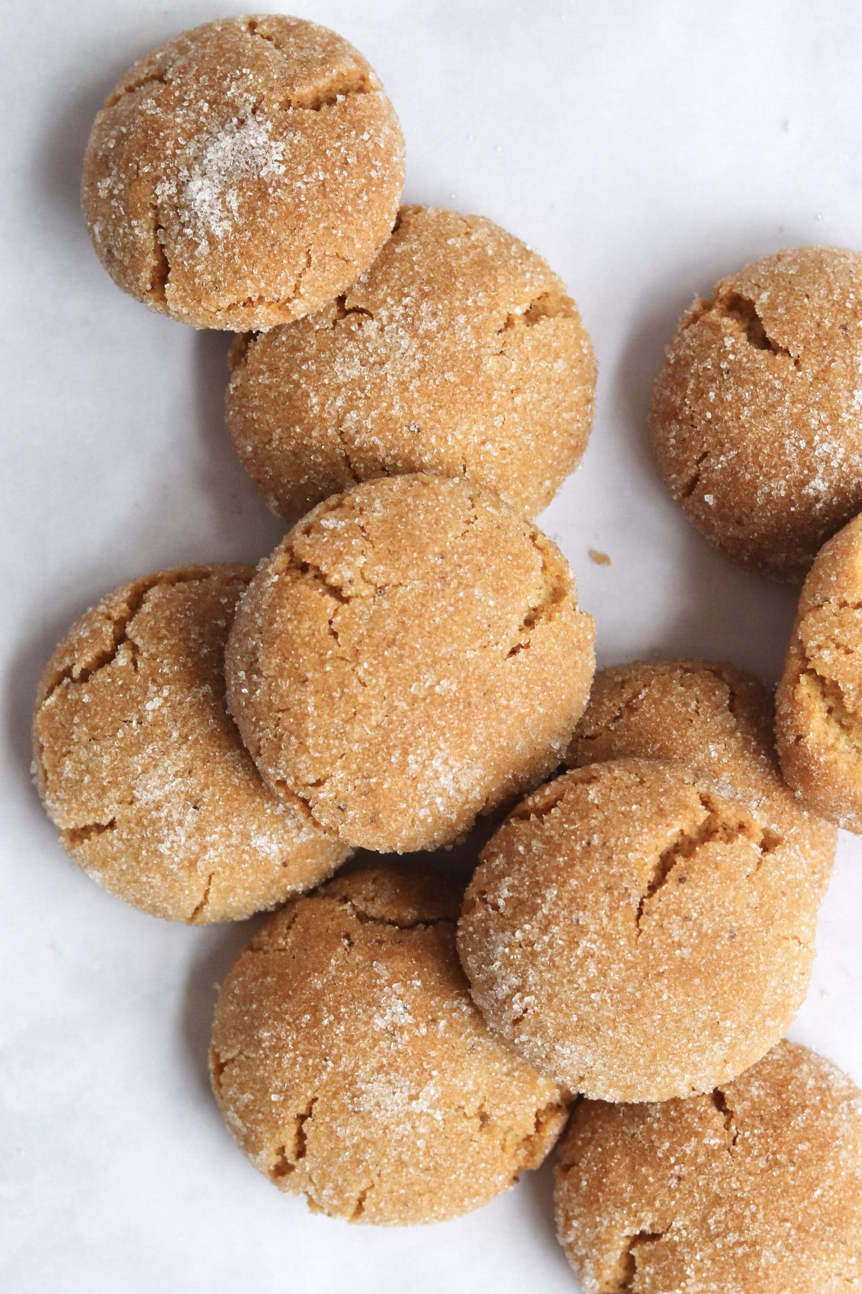 Pile of brown butter sugar cookies