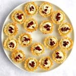 Plate of phyllo cup appetizers