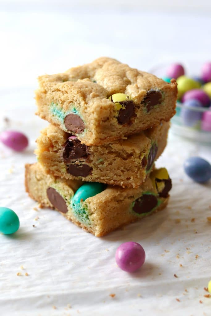 stack of easter cookie dessert bars