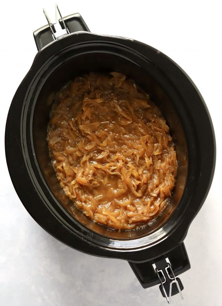 Caramelized onions in crockpot