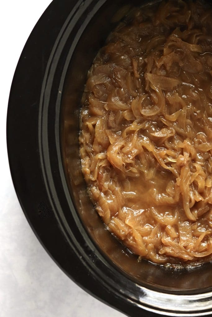 Caramelized onions in a slow cooker