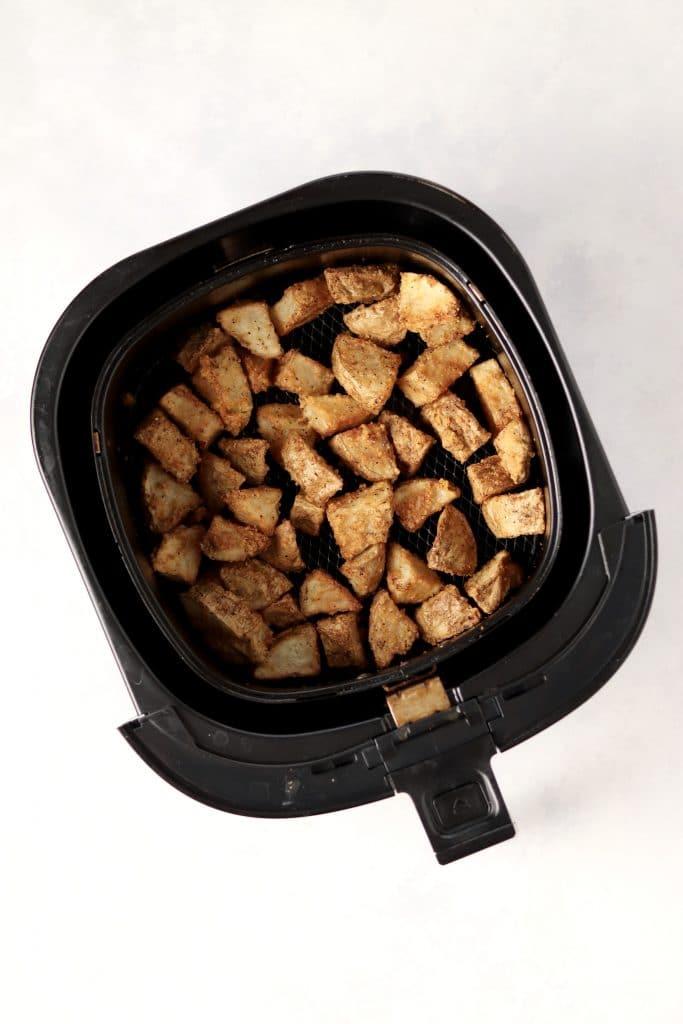 crispy parmesan potatoes in air fryer