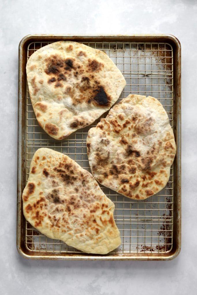 flatbread on sheet pan
