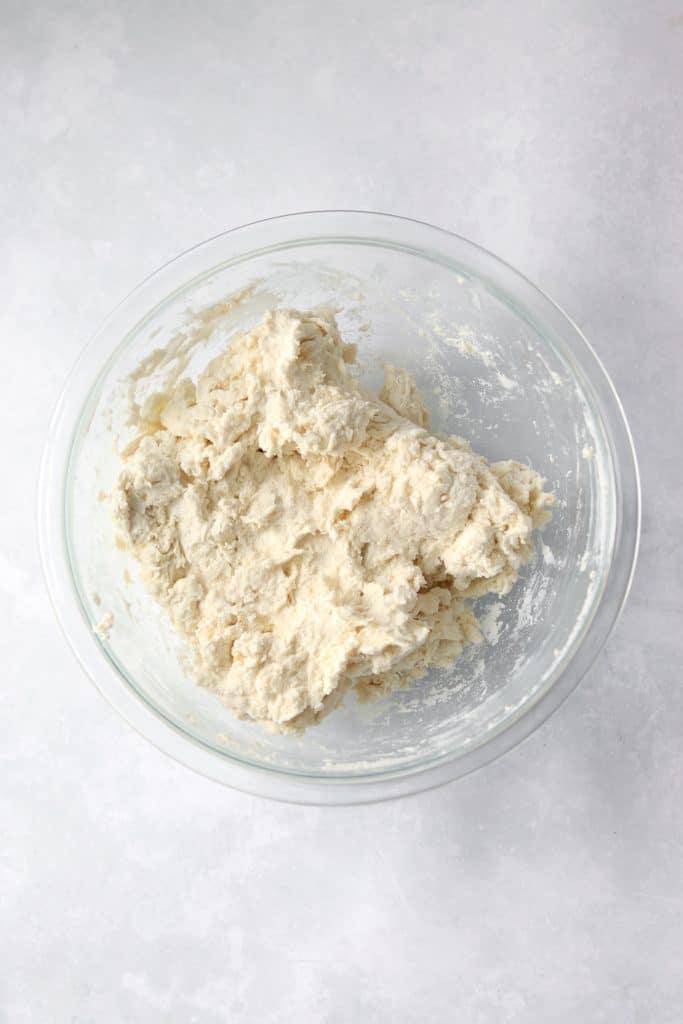 flatbread dough in bowl