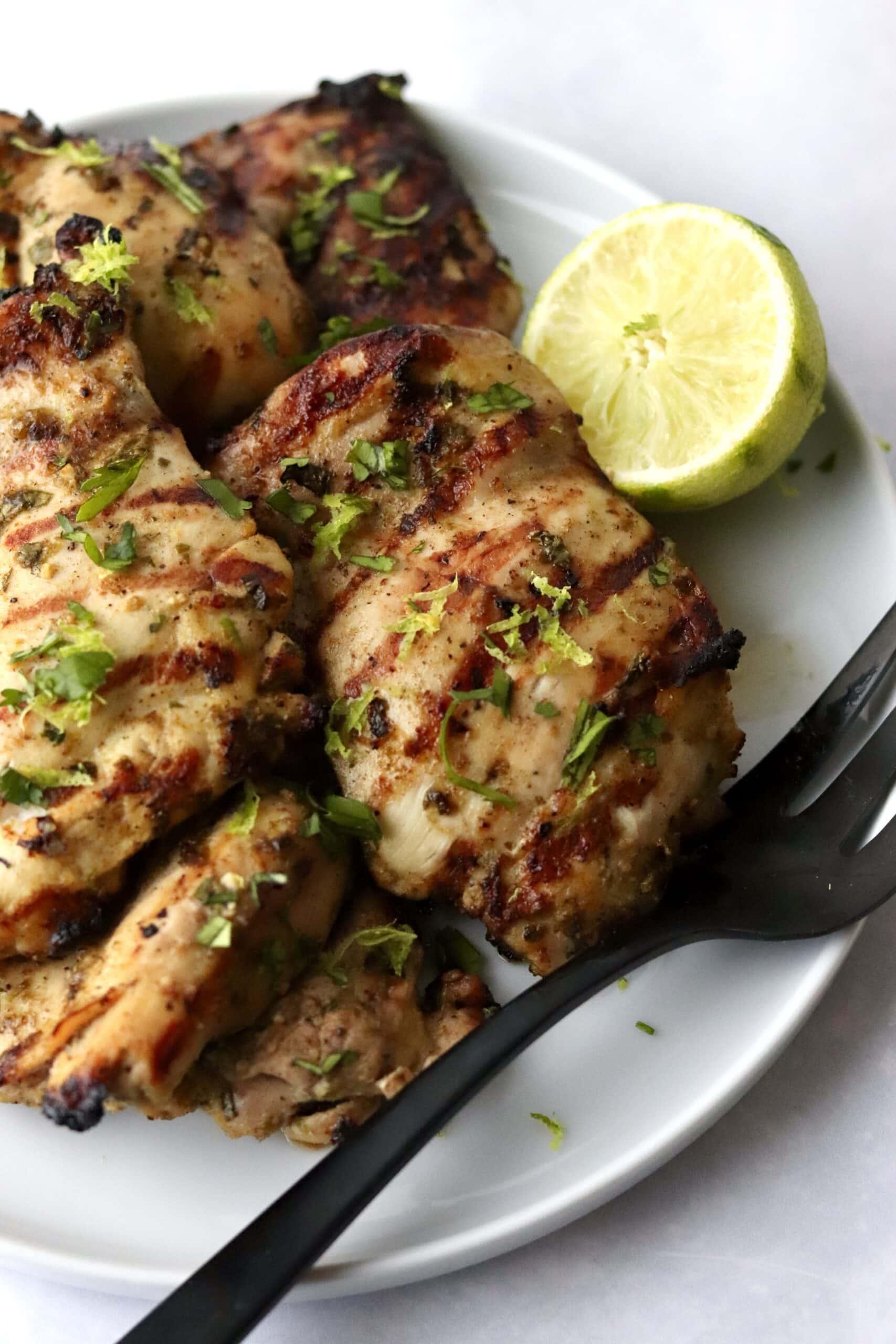 cilantro grilled chicken thighs