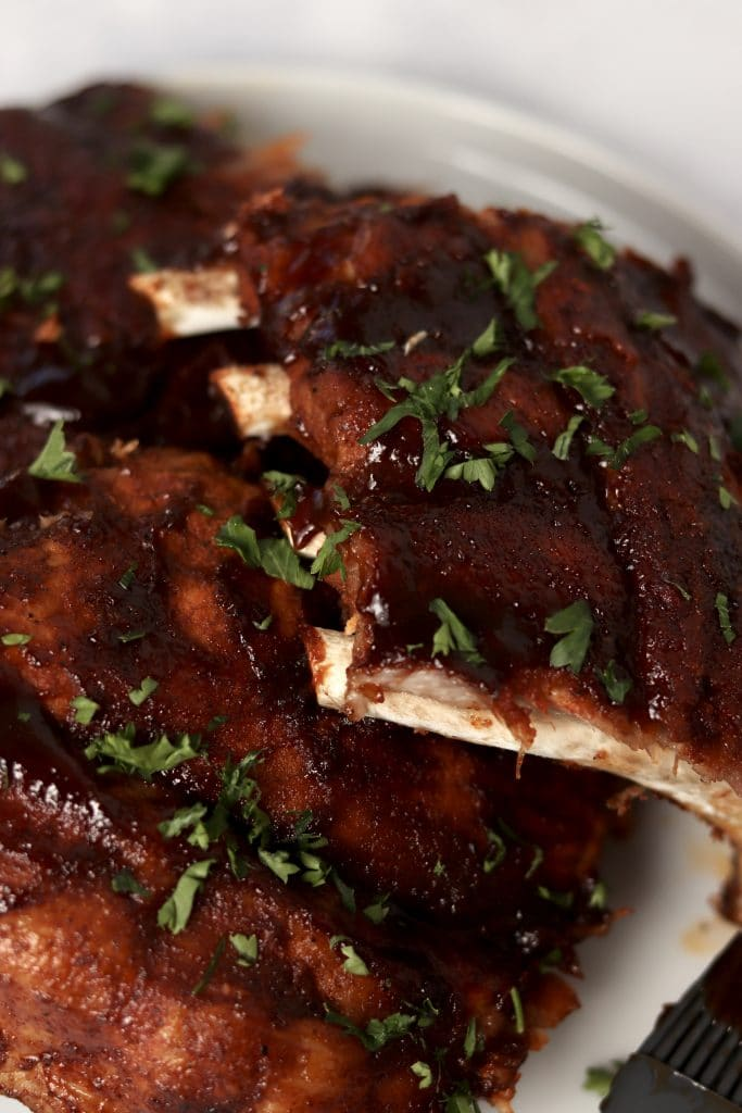 BBQ Ribs on a plate