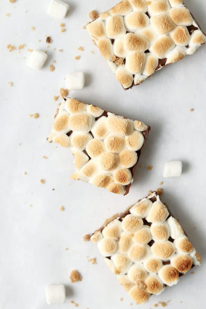 3 marshmallow chocolate bars