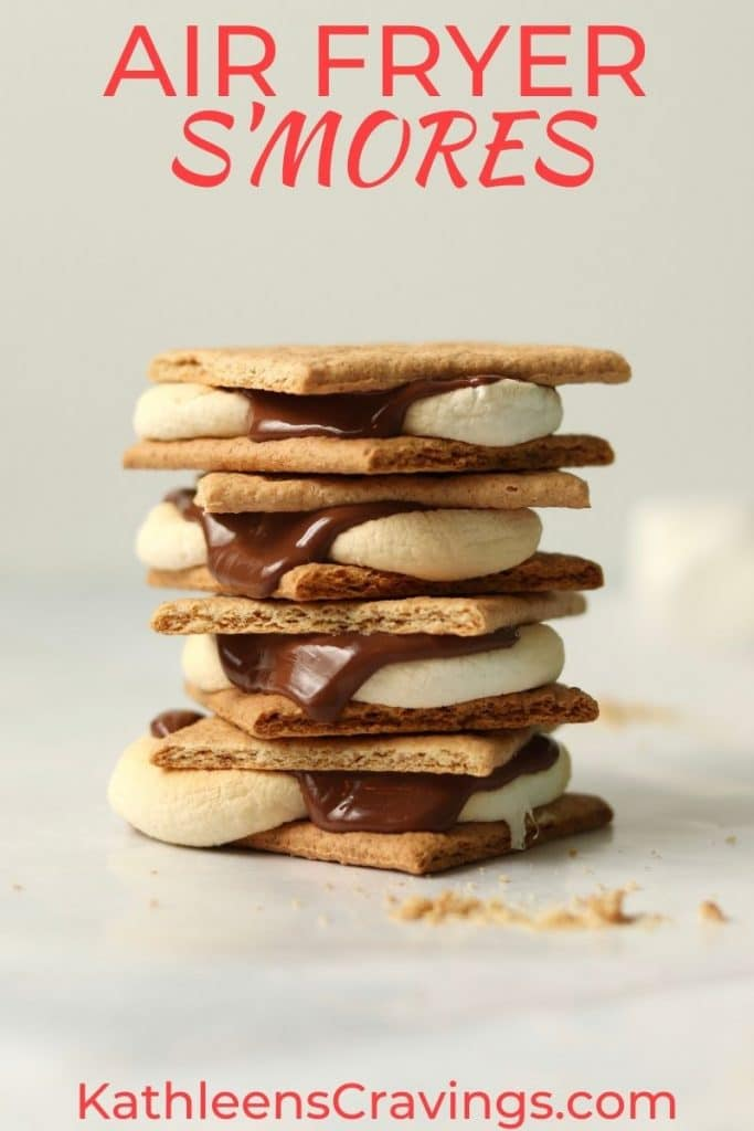 Stack of air fryer s'mores