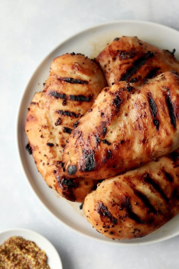 chicken breasts and whole grain mustard