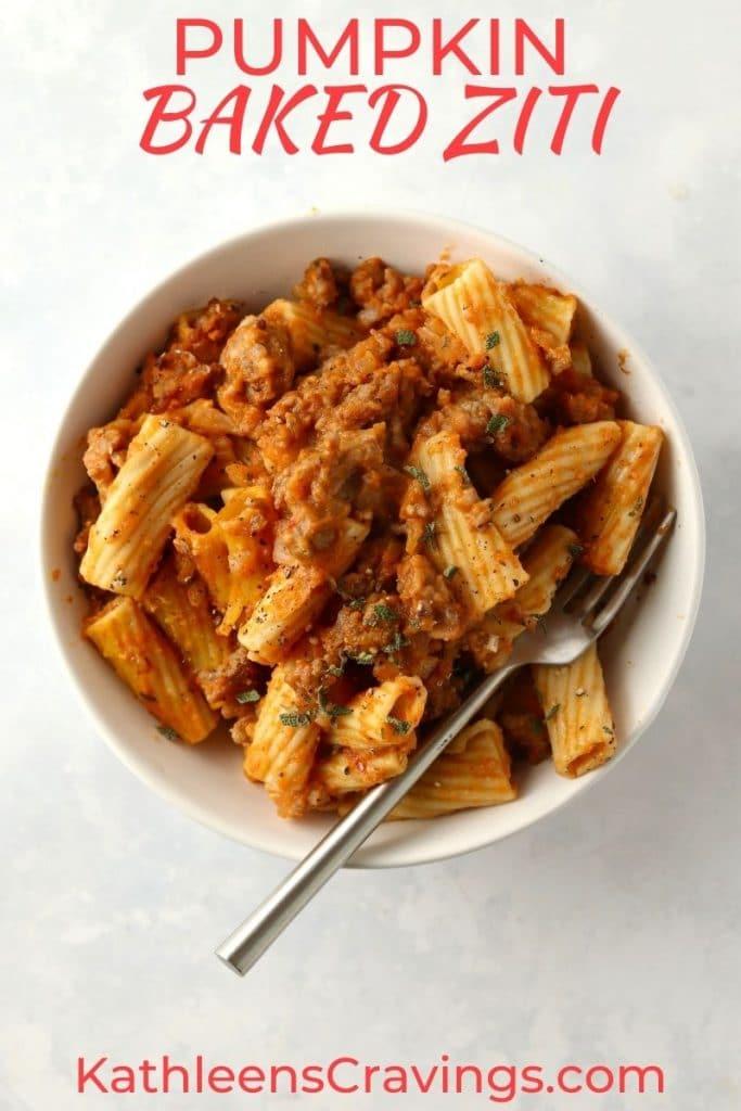pumpkin pasta with sausage