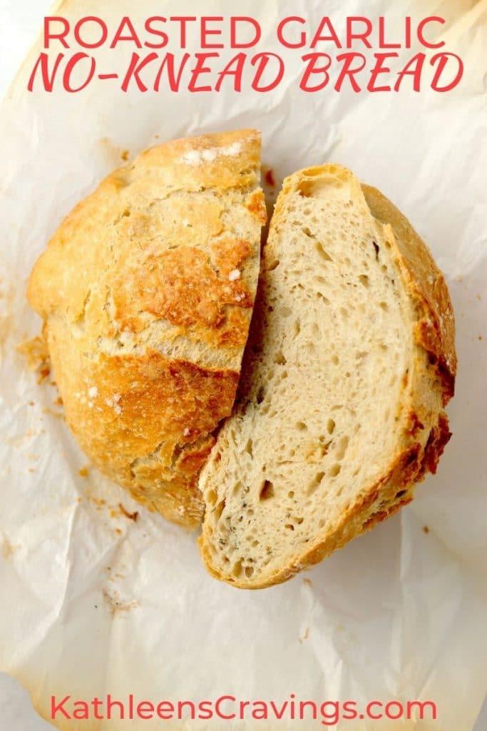 no knead bread sliced open