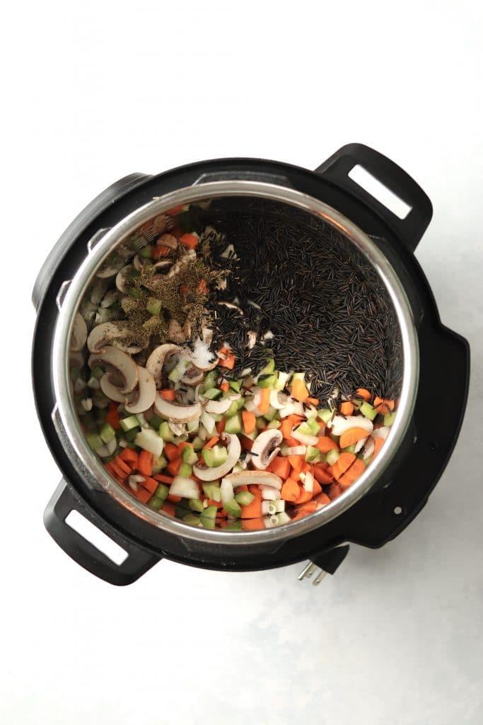 wild rice and veggies in instant pot